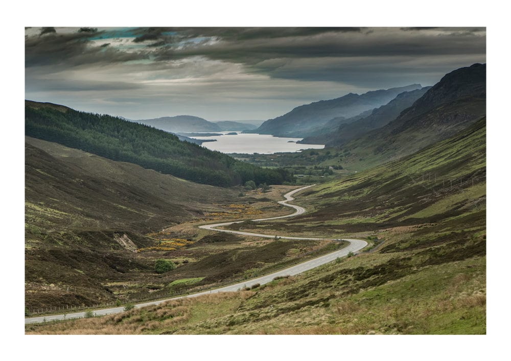 the road to Loch maree